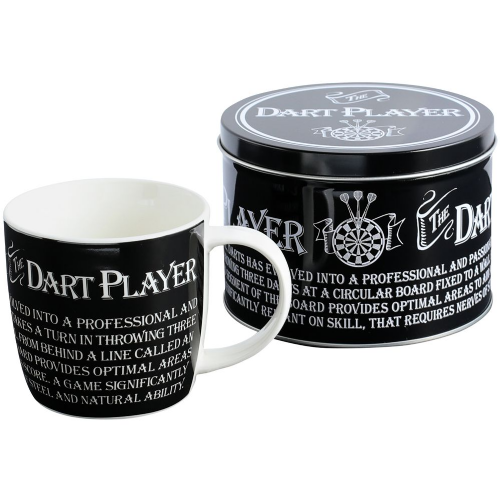 MUG AND TIN - DART PLAYER